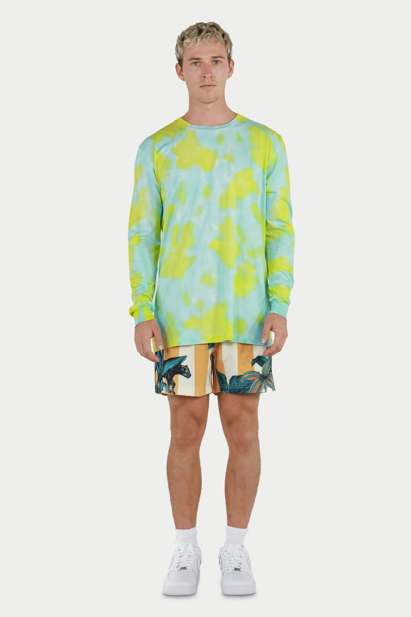 Aqua Tie Dye Long Sleeve Tee
