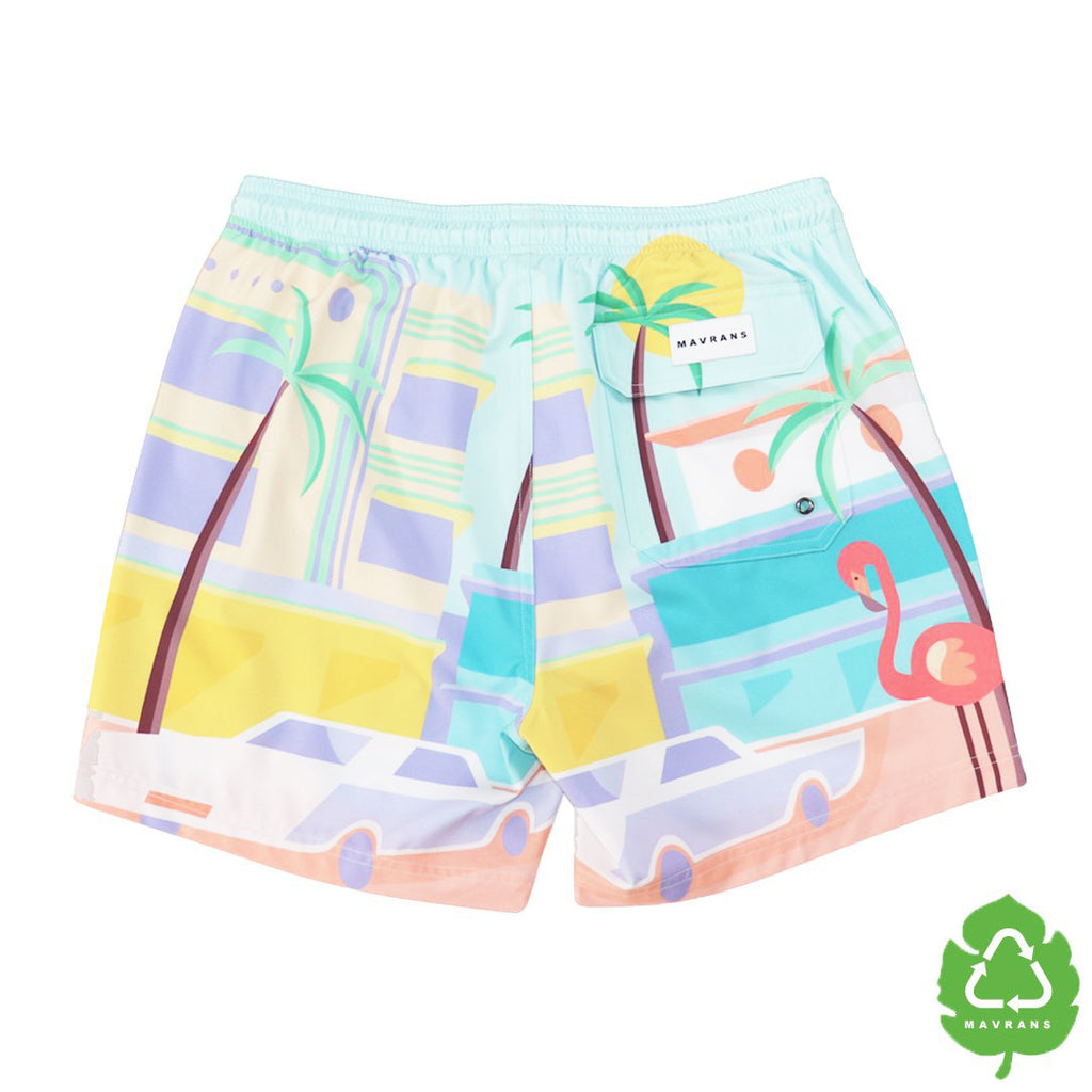 Beach Street 5 Inch Stretch Swim Trunk