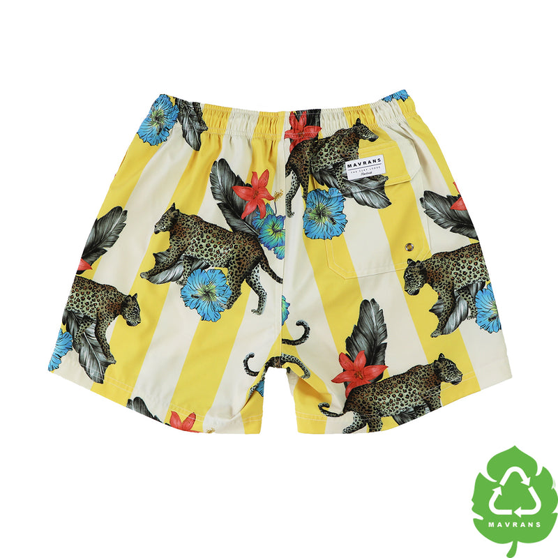 Cheetah Lodge 5 Inch Stretch Swim Trunks