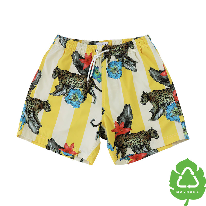Cheetah Lodge 5 Inch Stretch Swim Trunks (1816001183789)