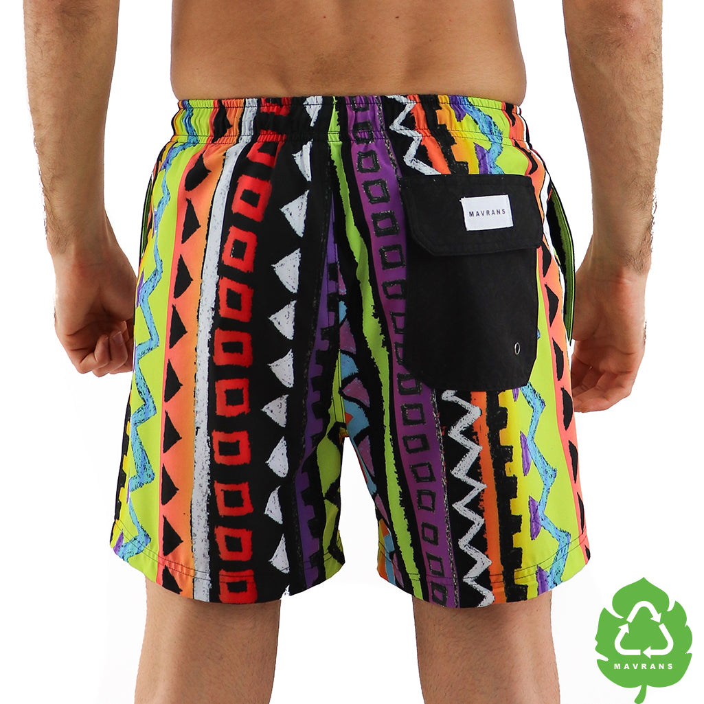 a03adb07e9 Frat Swim Trunks | Retro Stretch Swim Trunks | Mavrans – MAVRANS