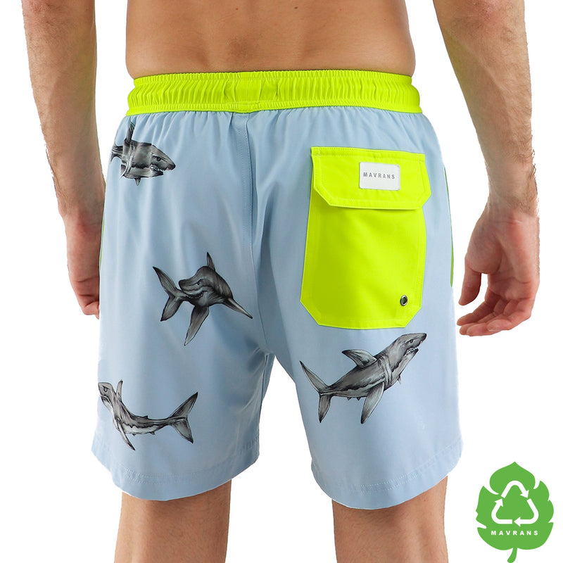 Shark Attack 5 Inch Stretch Swim Trunk (1527052599341)