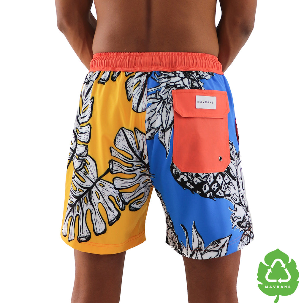 Piña Colada 5 Inch Stretch Swim Trunk