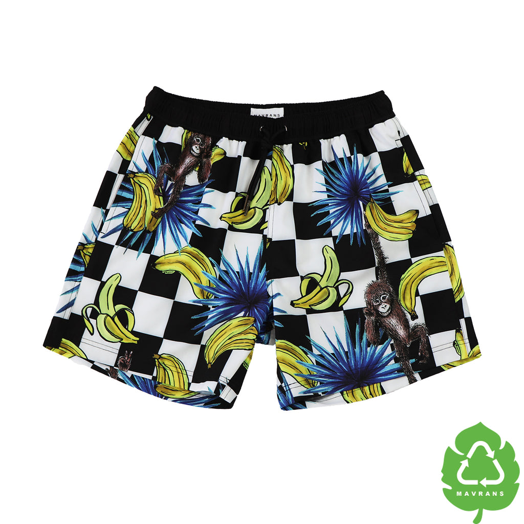 Monkey Is Bananas 5 Inch Stretch Swim Trunk (1528095014957)