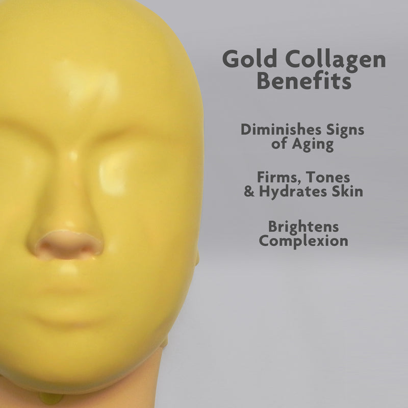 Premium Modeling Mask Pack of 9 Variety Gold Collagen, Clear Charcoal, Glow Vita-C Peel Off Modeling Mask Set With Spatula