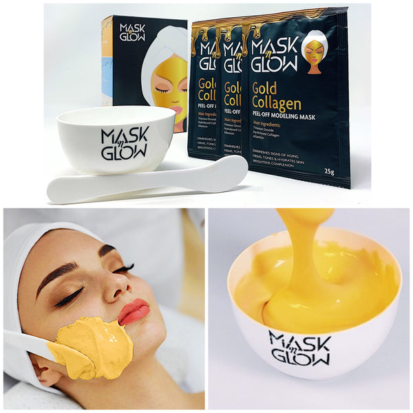 Gold Collagen Modeling Mask- Firming & Hydrating Rubber Mask- Jelly Mask