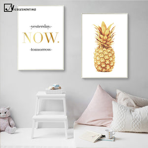 Pineapple Motivational Quotes Minimalist Nordic