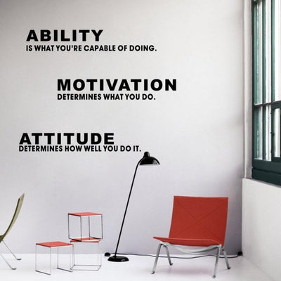Ability Motivation Attitude Wall Sticker