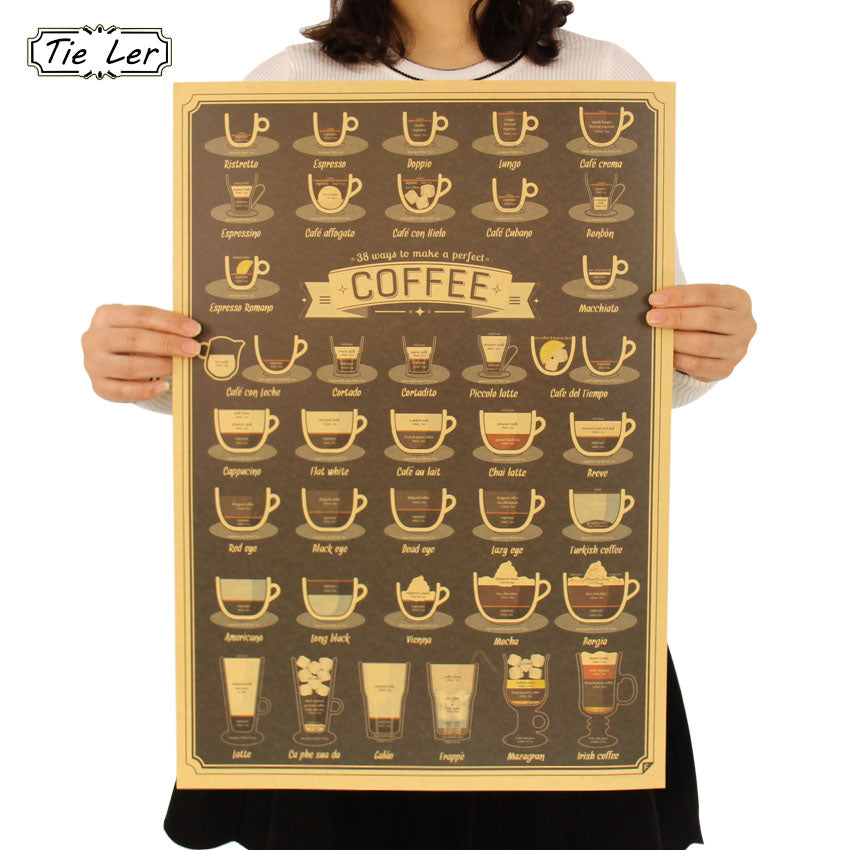 Coffee Cup Vintage Poster