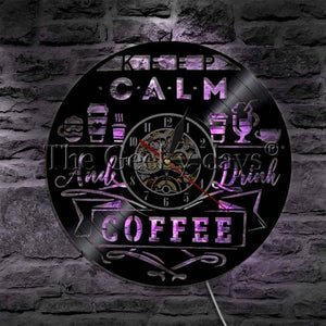 Keep claim and drink Coffee Wall Clock