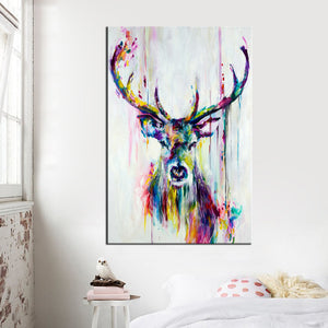 Abstract Print Colorful Deer