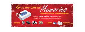 Give the Gift of Memories -  Digital Transfer Kit