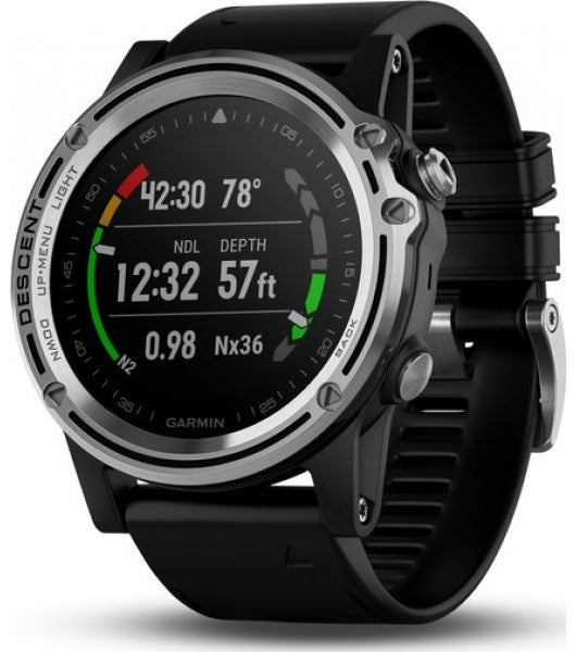 Garmin Descent™ Mk1 Silver Sapphire with Black Band