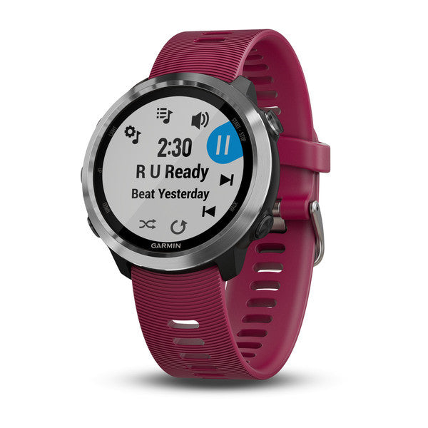 Garmin Forerunner® 645 Music Cerise with Stainless Hardware