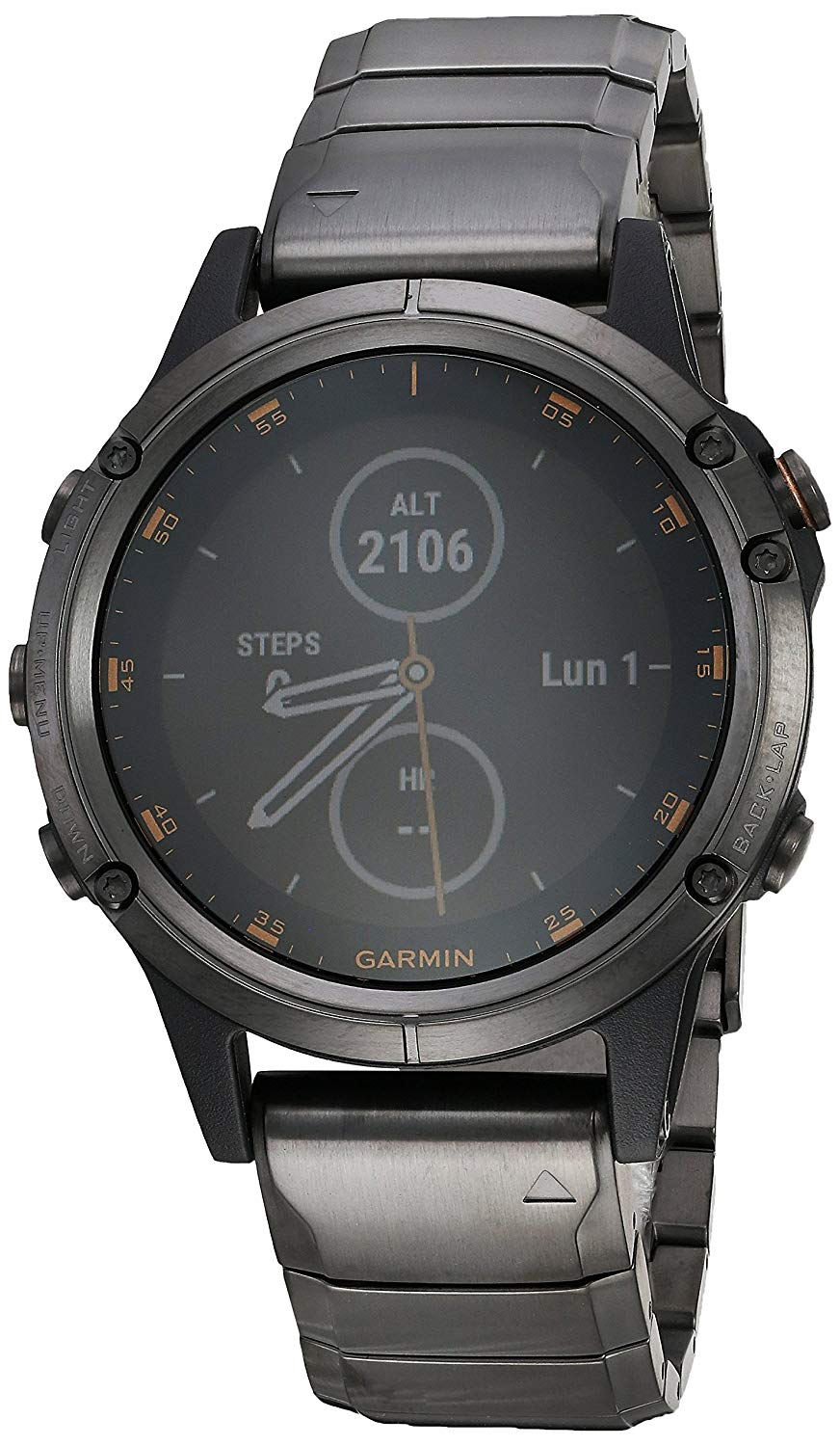 Garmin Fenix 5 Plus Gray Dlc Titanium The Time Store1