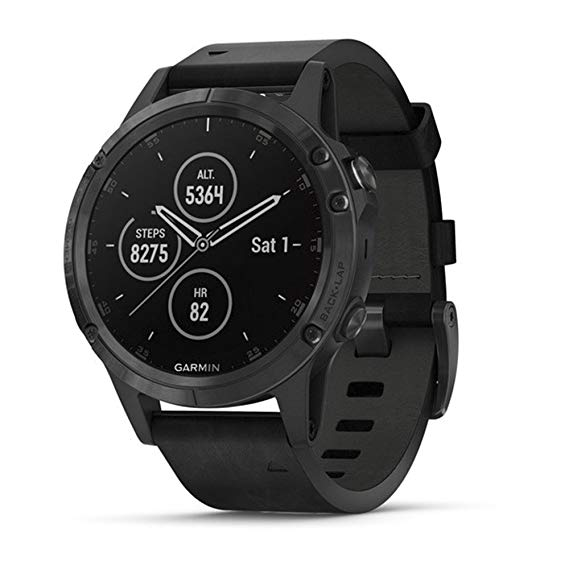Garmin Fenix 5 Plus Sapphire Multisport Galileo Black Leather