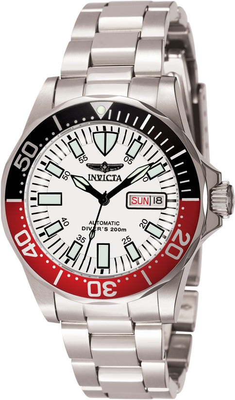 Signature Men's Stainless Steel White Dial