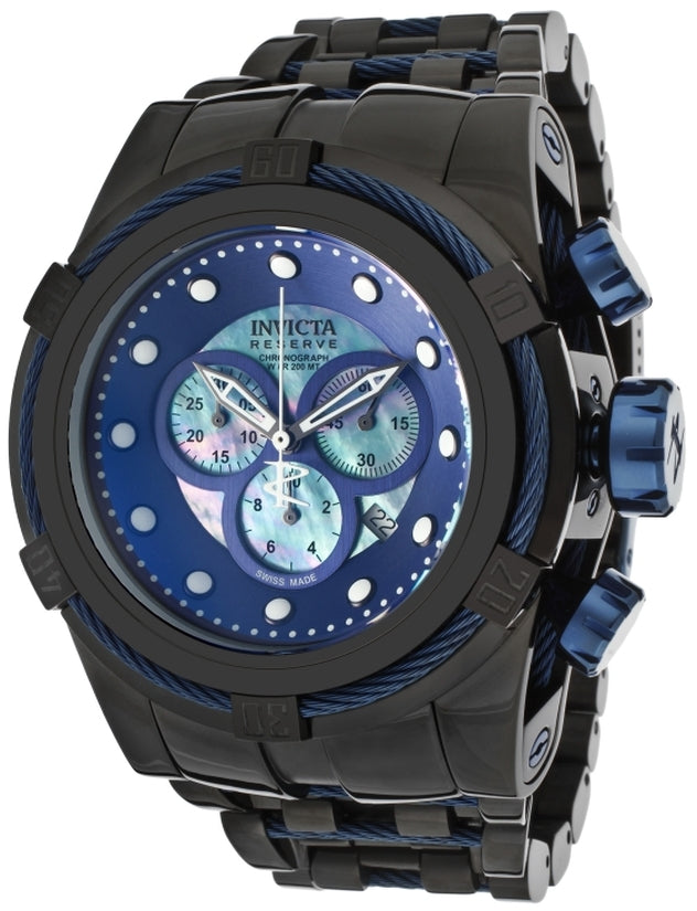 Bolt Men's Stainless Steel Blue Dial