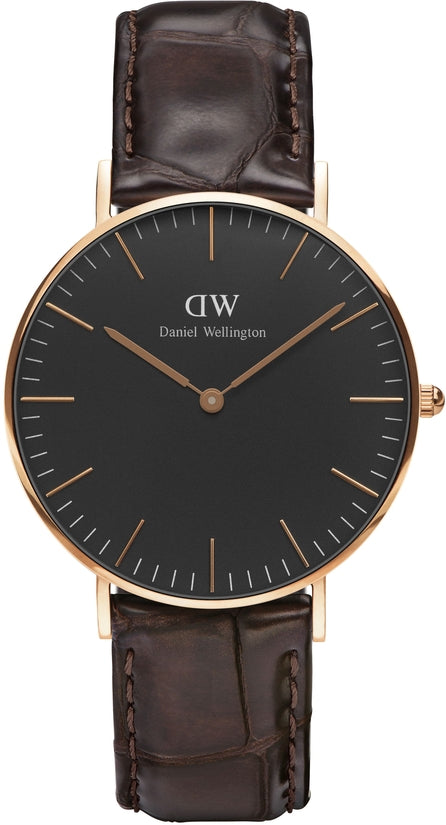Classic Black York Rose Gold 36mm