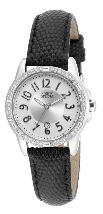 Angel Women's Leather Silver Dial