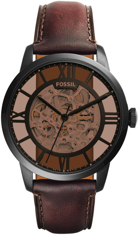 Townsman Automatic Skeleton Dial Brown Leather