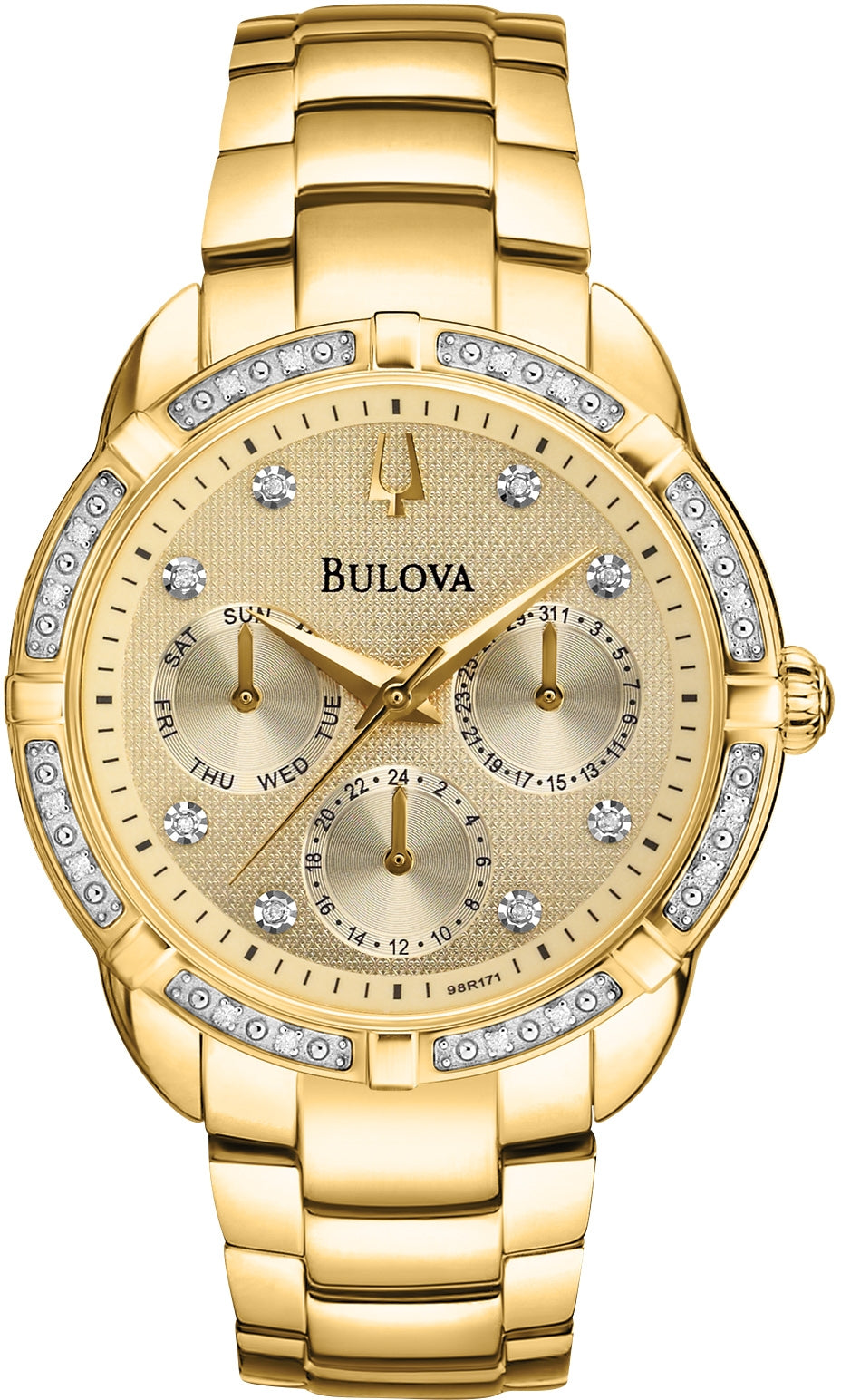 Diamond Cream Dial Gold Tone