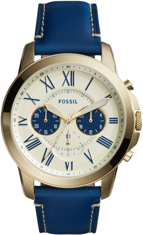 Grant Chronograph Blue Leather