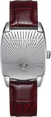 American Classic Women's Burgundy Leather Strap Silver Dial