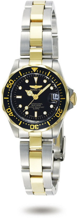 Pro Diver Women's Stainless Steel Black Dial