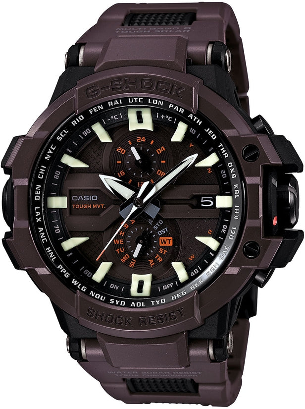 G-Shock G-Aviation Chronograph Brown Dial Resin Strap Men's Watch GWA1000FC-5A