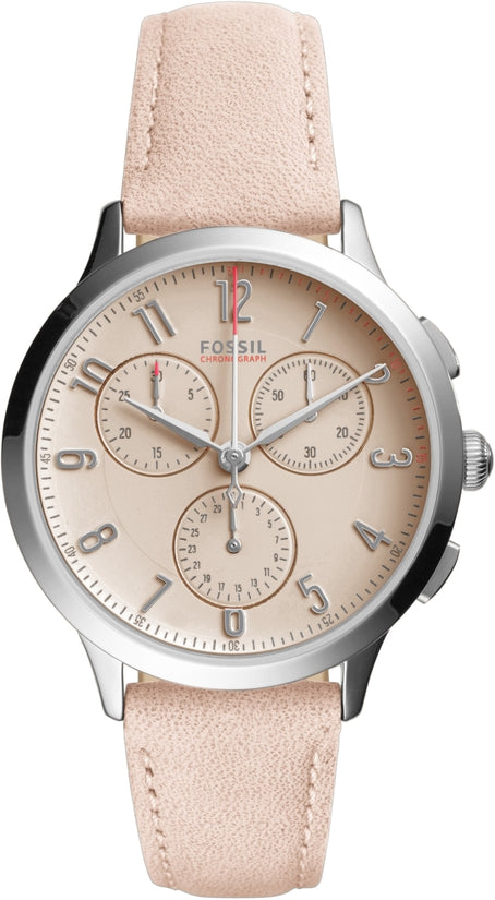 Abiline Chronograph Pink Leather