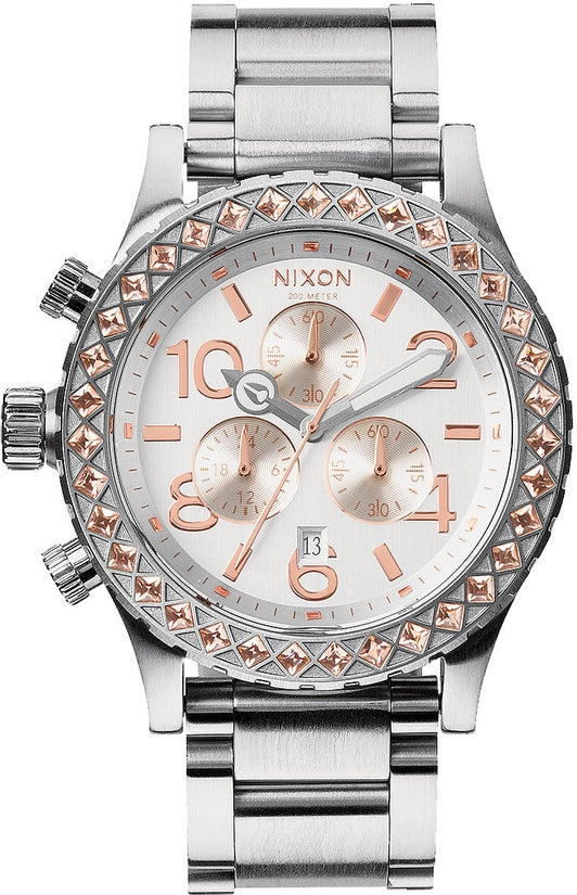 42-20 Chrono Silver / Light Gold Crystal