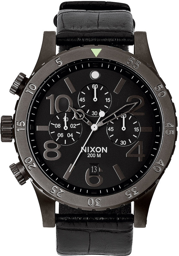 48-20 Chrono Leather Black Gator