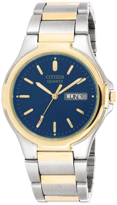 Blue Dial Day Date Two-Tone Stainless Steel Mens Watch BK3564-52L