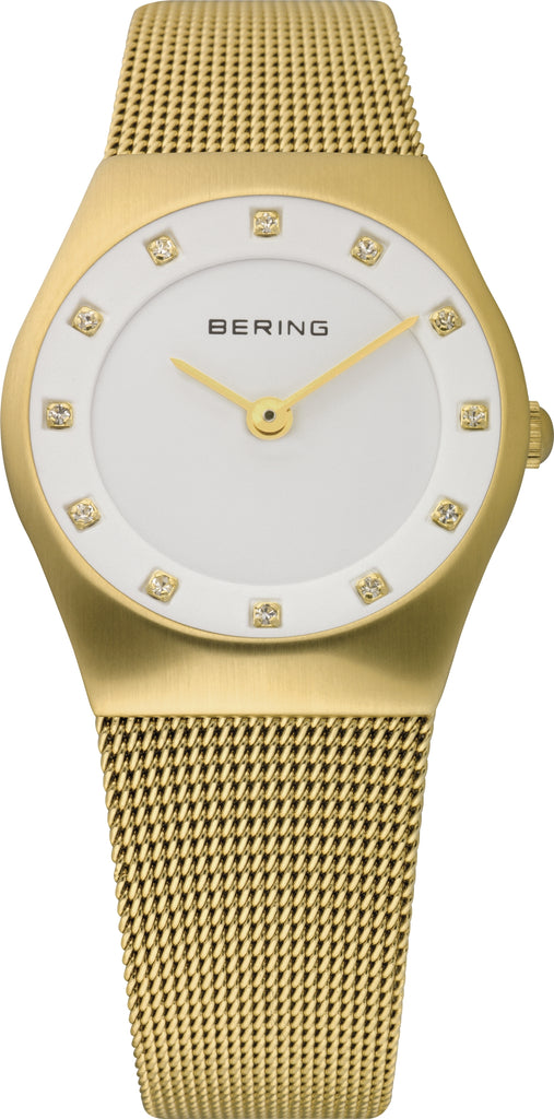 Women's Gold-Tone Stainless Steel White Dial