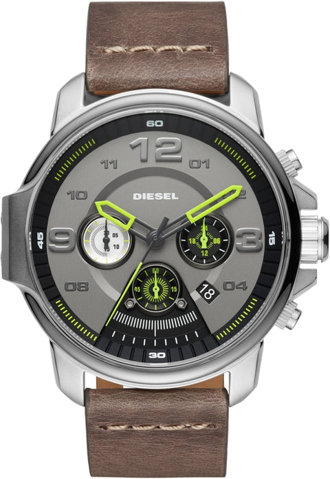 Whiplash Chronograph Brown Leather