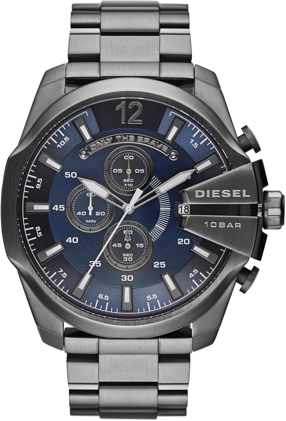 Mega Chief Chronograph Blue Dial Gunmetal IP