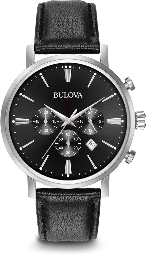 Classic Chronograph Black Leather