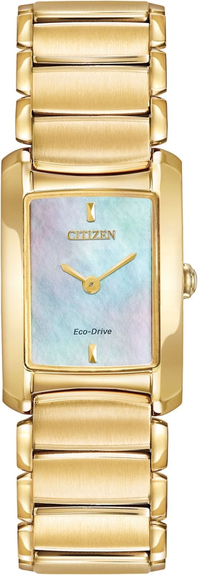 EG2972-58D Euphoria Mother Of Pearl Dial Gold Tone Stainless Steel Strap Women's Watch