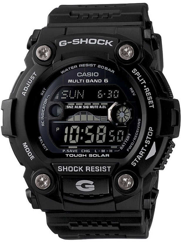 G-Shock Solar Atomic Digital Black Dial Resin Strap Men's Watch GW7900B-0