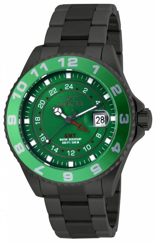 Pro Diver Men's Stainless Steel Green Dial