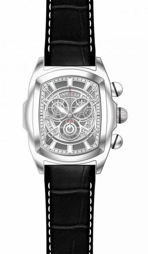 Lupah Men's Leather Silver Dial