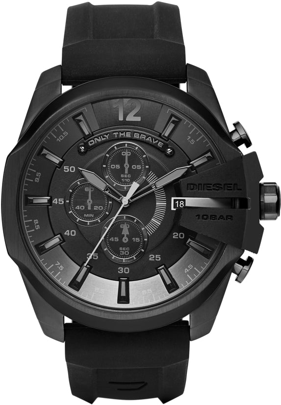 Mega Chief Chronograph Black Silicone