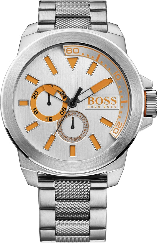 New York Men's Stainless Steel Silver Dial