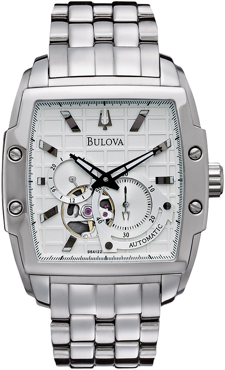 BVA Automatic Dual Aperture Silver Dial Stainless Steel Men's Watch 96A122