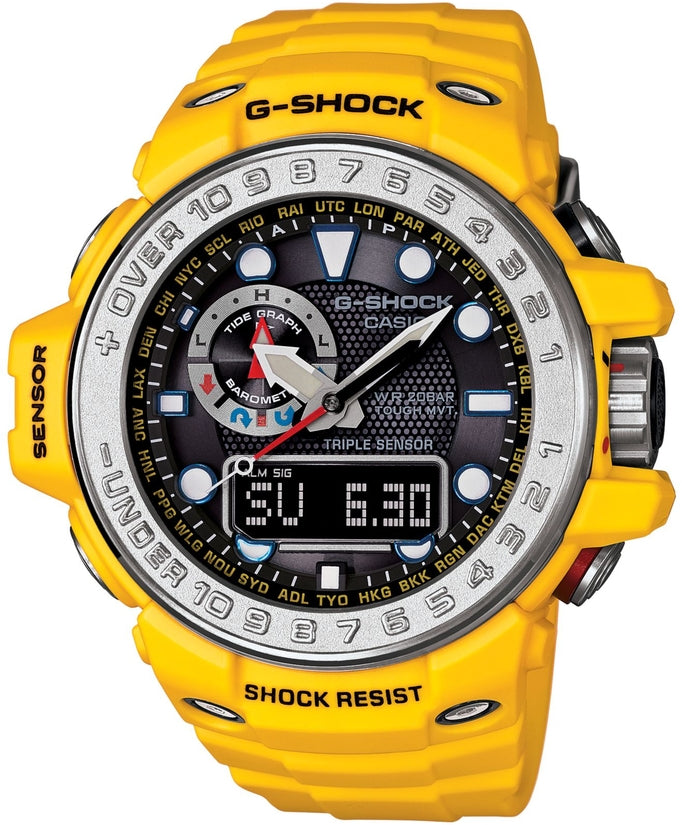 G-Shock GWN1000-9A Master of G Black Dial Yellow Resin Strap Mens Watch