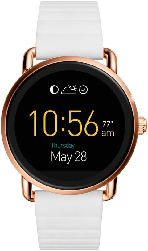 Q Wander Touchscreen White Silicone Smartwatch