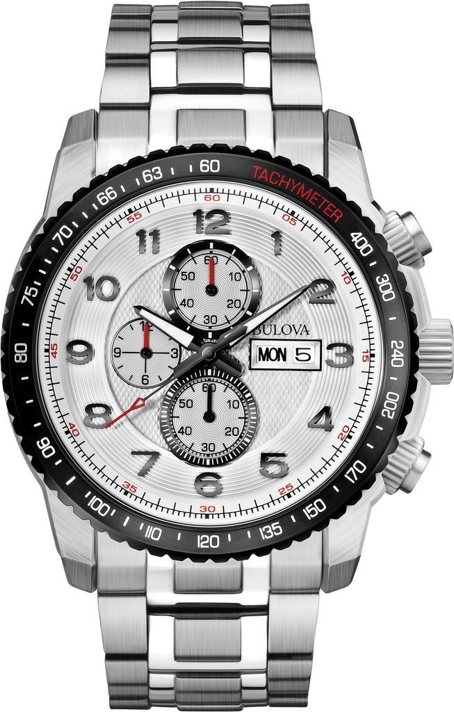 Marine Star Chronograph White Dial Stainless Steel Mens Watch 98C114