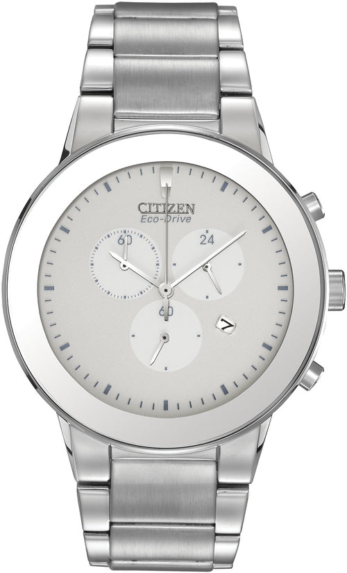AT2240-51A WDR 3.0 Axiom Chronograph White Dial Stainless Steel Strap Men's Watch