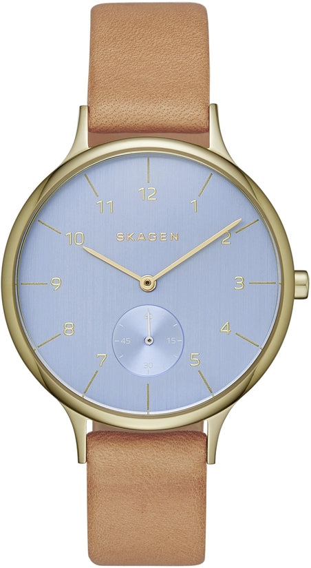 Anita Blue Dial Tan Leather